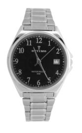 Ottimo heren horloge zilver zwart  OT-WPA0831