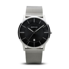 Bering horloge classic polished zilver zwart 13139-002