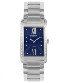 Prisma Dames horloge Precise Zirconia Blauw P.1956