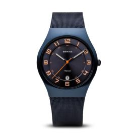 Bering horloge classic brushed blue 11937-393