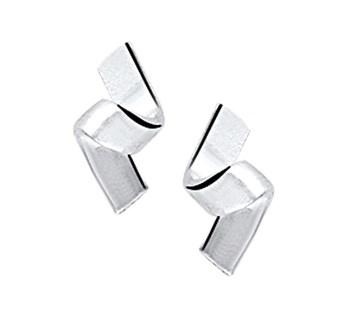 Zilveren oorknopjes Kronkel/fanatsie