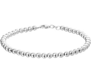 beste leverancier op voet schoten van uitverkoop Zilveren bolletjes armband 4.0mm | Armbanden | gewoonelwin