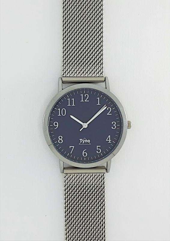 Tyno Zilver blauw 301-003 mesh