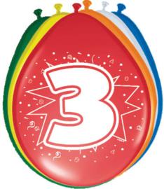 Ballonnen 30cm 3e Verjaardag