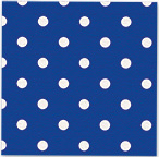 Servetjes Polka Dots Royal Blue