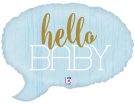 "'Hello baby' Blauwe Ballon 24"""