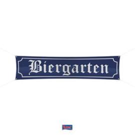 Straatbanner Oktoberfeest 'Biergarten' 180cmx40cm