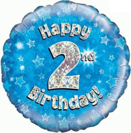 "Sempertex 18"" 2e Verjaardag Blauw"