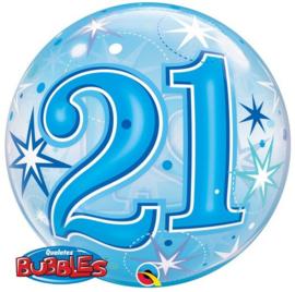 Bubble 21e Verjaardag Blauw