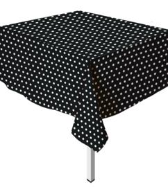 Tafelkleed Polka Dots Zwart