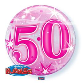 Bubble Verjaardag 50e Roze