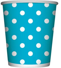 Polka Dots Caribbean Blue