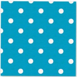 Servetjes Polka Dots Caribbean Blauw