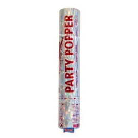 Partypopper 55cm Zilver