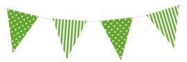 Vlaggenlijn Groen Gestreept/Gestipt