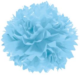 Pompom Blauw 3 st.