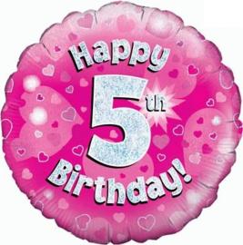 "Sempertex 18"" 5e Verjaardag Roze"