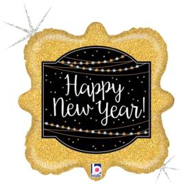 "Ballon Sqaure 'Happy new year' 18"""