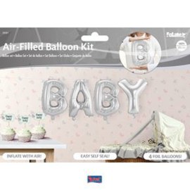 Folieballonen letters 'Baby'