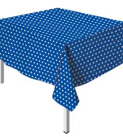 Tafelkleed Polka Dots Royal Blue
