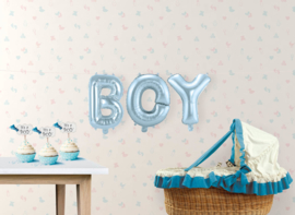 "Air-Filled Ballonletters BOY 14"" Blauw"