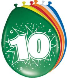 Ballonnen 30cm 10e Verjaardag