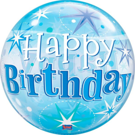 Bubbles Verjaardag Blauw
