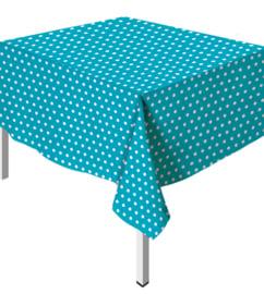 Tafelkleed Polka Dots Caribbean Blue