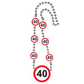Ketting Verkeersborden '40'