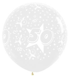 """Sempertex 36"""" Leeftijd 50 transparant st."""