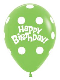 Sempertex Ballonnen Polka Dots Groen