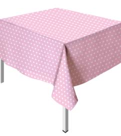 TafelkleedPolka Dots Pastel Roze