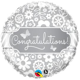 """Ballon 18"""" 'Congratulations'"""