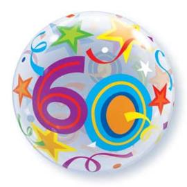 Bubble 60e Verjaardag bont slingers