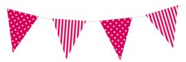 Sempertex Vlaggen 3,6m Polka dots Roze