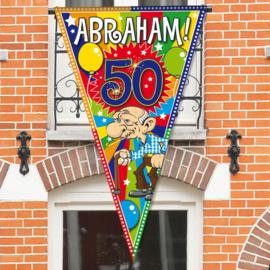 Mega Balkon/Deur Puntvlag Abraham 50