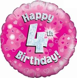 "Sempertex 18"" 4e Verjaardag Roze"