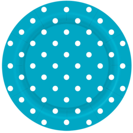 Bordjes Polka Dots Caribbean Blue