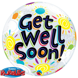 Bubble 'Get well soon' 22""