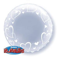Deco Bubble Hartjes 24""