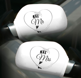 Spiegelhoezen Mr & Mrs