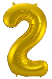 """Ballon 34"""" nummer 2 Goud"""