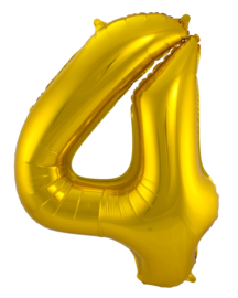 """Ballon 34"""" Nummer 4 Goud"""