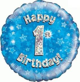 "Sempertex 18"" 1e Verjaardag Blauw"