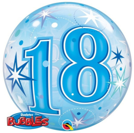Bubble 18e Verjaardag Blauw