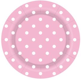 Bordjes Polka Dots Pastel Roze