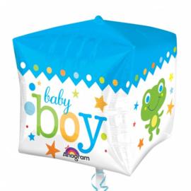FolieBallon Kubus 'Baby boy'