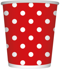 Bekers Polka Dots Rood 266ML