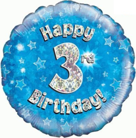 "Sempertex 18"" 3e Verjaardag Blauw"