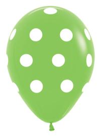 """Sempertex 12"""" Polka Dots Groen zk á 25 st."""